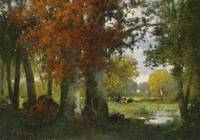 Adolf Kaufmann glade with brushwood collectors