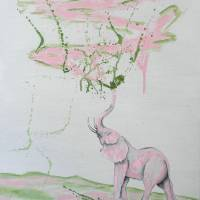 Elephant Paints Abstract Art Prints & Posters by Wayne Cantrell