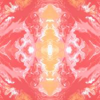 """""""Abstract in Pink, Orange and White"""" by KristiLinauer"""