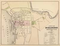 Vintage Map of Burlington Vermont (1873)