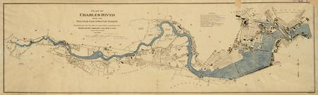Vintage Map of The Charles River (1894)