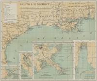 Vintage US Gulf of Mexico Lighthouse Map (1898)
