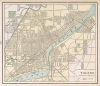 Vintage Map of Toledo Ohio (1901)