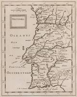 Vintage Map of Portugal (1680s)