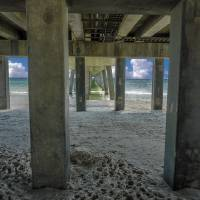Gulf Shores Park and Pier AL 1649 Art Prints & Posters by Ricardos Creations