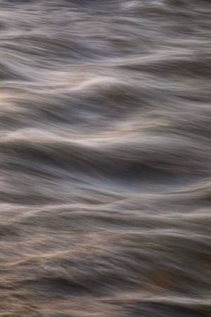 Flowing Creek Sunset Abstract Portrait