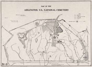Vintage Map of Arlington National Cemetery (1901) by Alleycatshirts ...