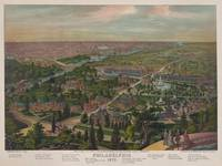Vintage Pictorial Map of Philadelphia PA (1876)