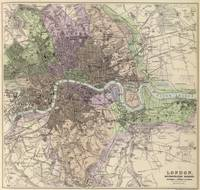 Vintage Map of London England (1872)