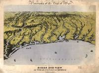 Vintage Pictorial Map of The Texas Coast (1861)