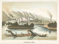 Vintage Pictorial View of Dubuque IA (1854)