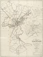 Vintage Map of Taunton MA (1915)
