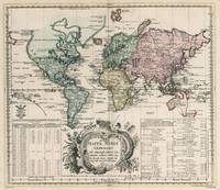 Vintage Map of The World (1753)