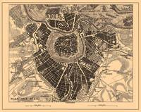 Vintage Map of Vienna Austria (1907)