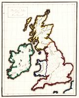 Vintage Map of The British Isles (1860)