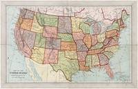 Vintage Map of The United States (1887)