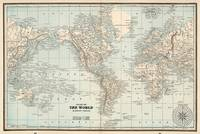 Vintage Map of The World (1893)