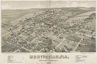 Vintage Pictorial Map of Monticello FL (1885)