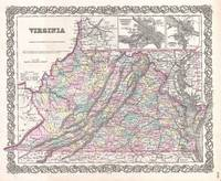 Vintage Map of Virginia (1855)