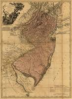 Vintage Map of New Jersey (1777)