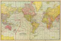 Vintage Map of The World (1909)