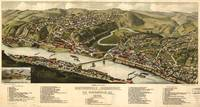 Vintage Pictorial Map of Brownsville PA (1883)