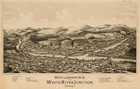 Old Lebanon NH & White River Junction VT Map (1889