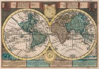 Vintage Map of The World (1740)
