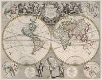 Vintage Map of The World (1721)
