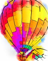 The Yellow and Red Balloon by Kirt Tisdale