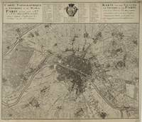 Vintage Map of Paris France (1735)