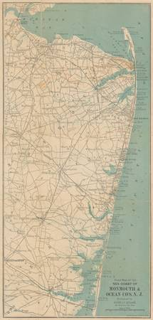 Vintage Map of The New Jersey Coast (1890)