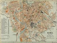 Vintage Map of Rome Italy (1911)