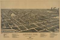 Vintage Pictorial Map of Antigo WI (1886)