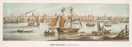 Vintage Pictorial Map of New Orleans LA (1854)