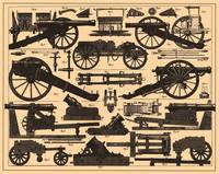 Vintage Illustration of Cannons & Artillery (1907)