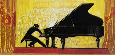 Vintage Piano Recital Illustration (1920)