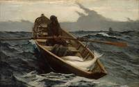 The Fog Warning / Halibut Fishing by Winslow Homer
