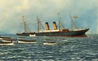 Vintage Illustration of The SS Oregon Sinking (190