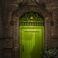 Behind the Green Door Art Prints & Posters by Louise Reeves