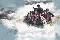 White Water Rafting in the Churning River
