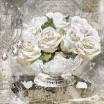 """""""White Gold Glitter Roses"""" by MindyDidIt"""