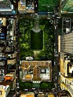 Birds Eye View Bryant Park Manhattan NYC