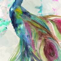 Peacock Dress Art Prints & Posters by Mindy Sommers