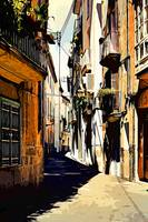 Streets of a spanish city