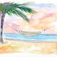 """Easy_Going_Hammock_under_Palms"" by arthop77"