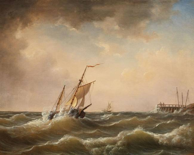 "Stunning ""Ship Rough Sea"" Artwork For Sale on Fine Art Prints"