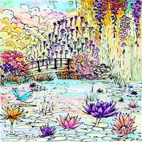 Monet Water Lilies Inspired Contemporary Flowers