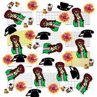 office girl pattern