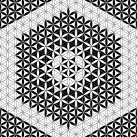 Flower of Life Black White 9